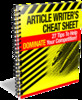 Thumbnail Article Writers Cheat Sheet With PLR!