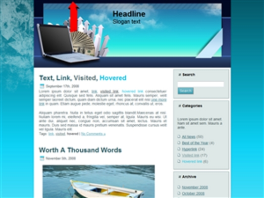 Product picture 3 Wordpress Blog Themes Headers With PLR!