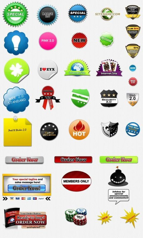 Product picture 27 Badges PLR!