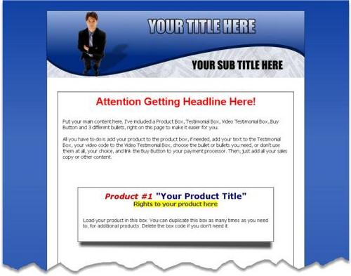 Product picture 5 PLR Website Templates