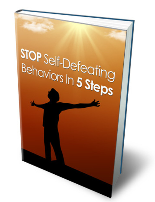 Product picture Stop Self Defeating Behaviors In 5 Steps With Mrr