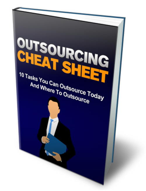Product picture Outsourcing Cheat Sheet Comes with Master Resale